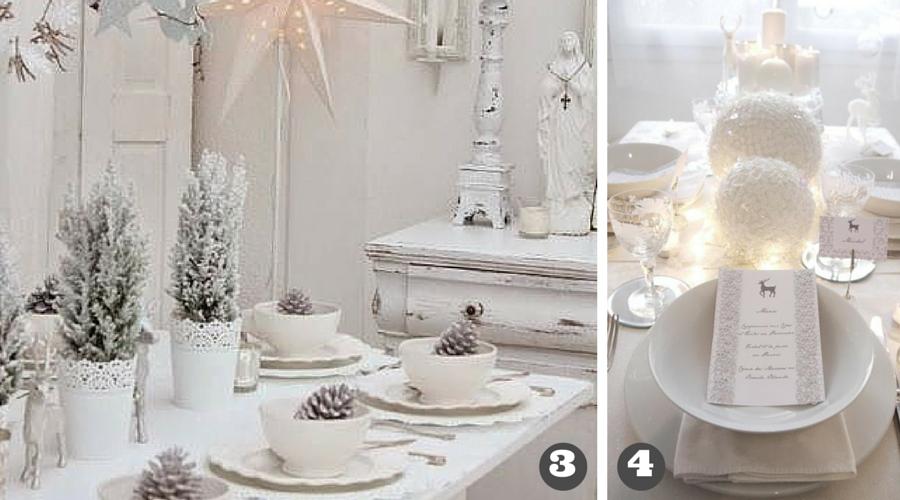 dekoracja stołu na biało