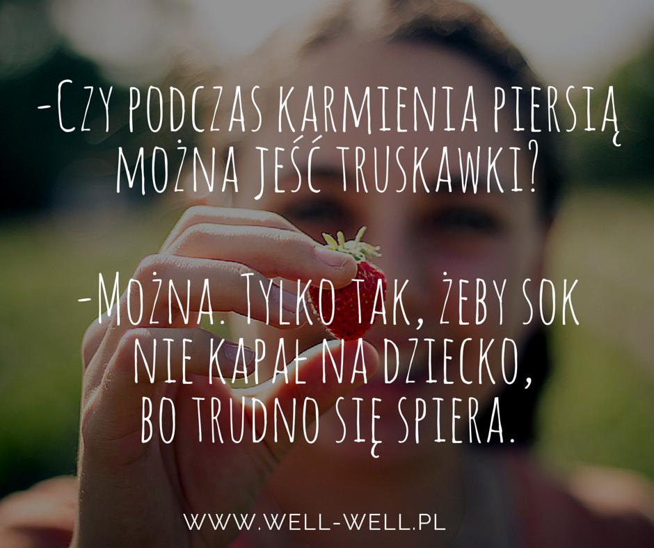 karmienie piersią a truskawki www.well-well.pl
