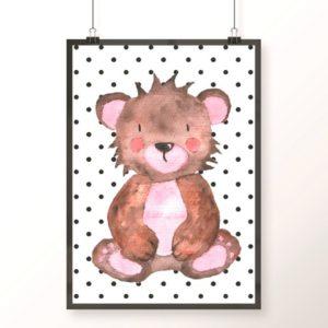 niedźwiadek plakat dla dzieci