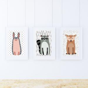 zestaw obrazków do pokoju dziecka