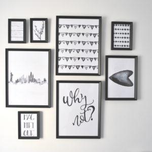galeria plakatów black white
