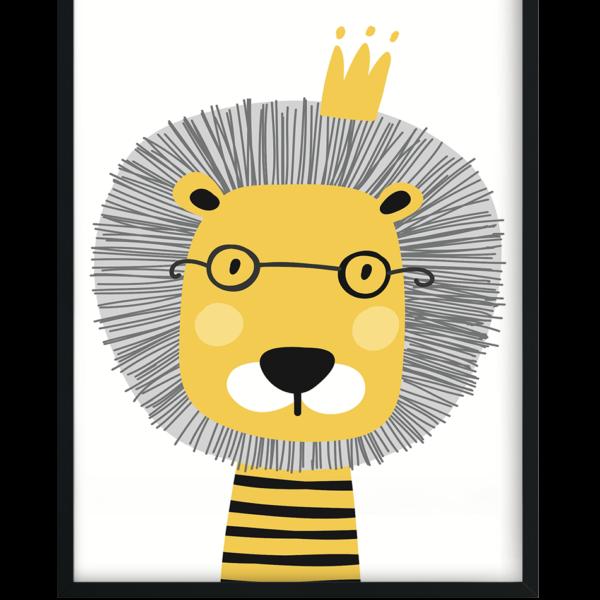 plakat z lwem