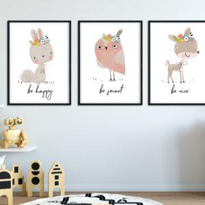 plakaty dla dzieci be happy