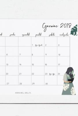 kalendarz czerwiec 2018 do druku