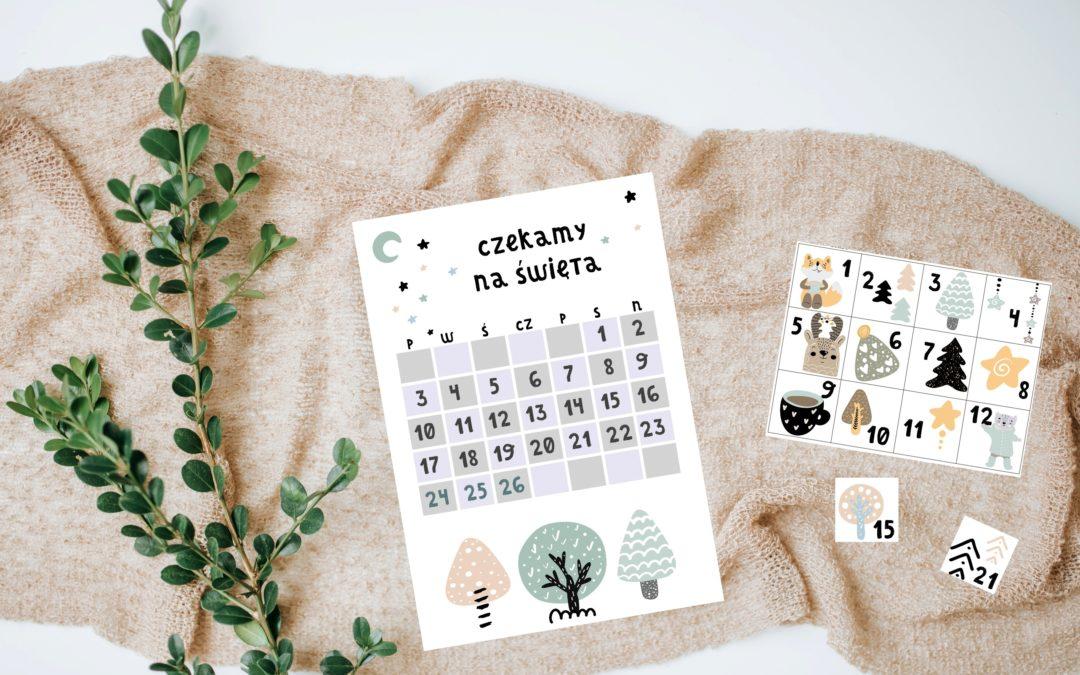 Kalendarz adwentowy – materiały do druku