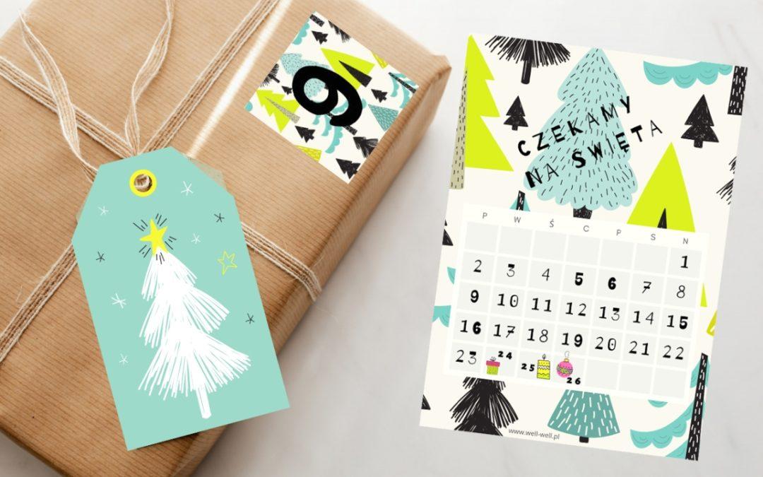 Czekanie na Święta – kalendarz na grudzień i numery do kalendarza adwentowego