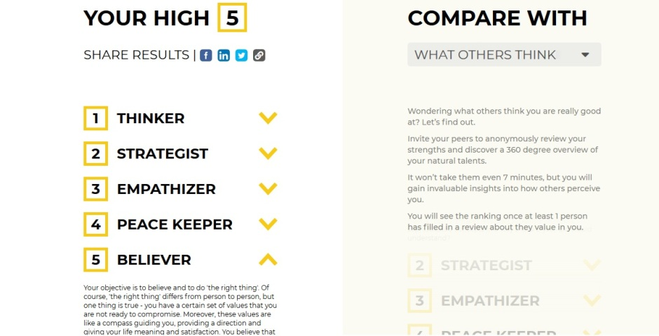 wyniki testu high 5